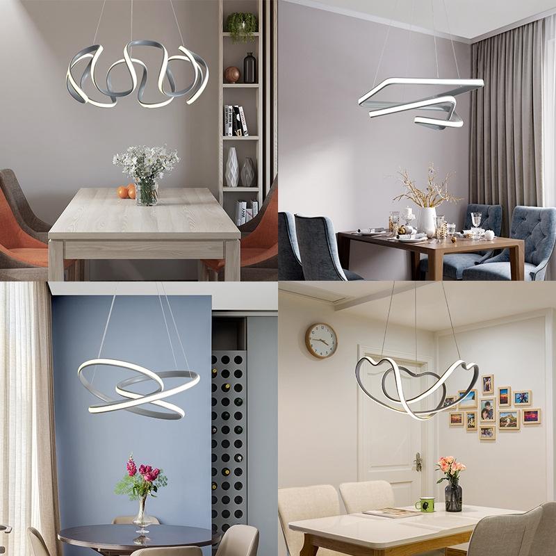 现代简约餐厅客厅吊灯 创意个性艺术餐厅后现代异形极简吊灯
