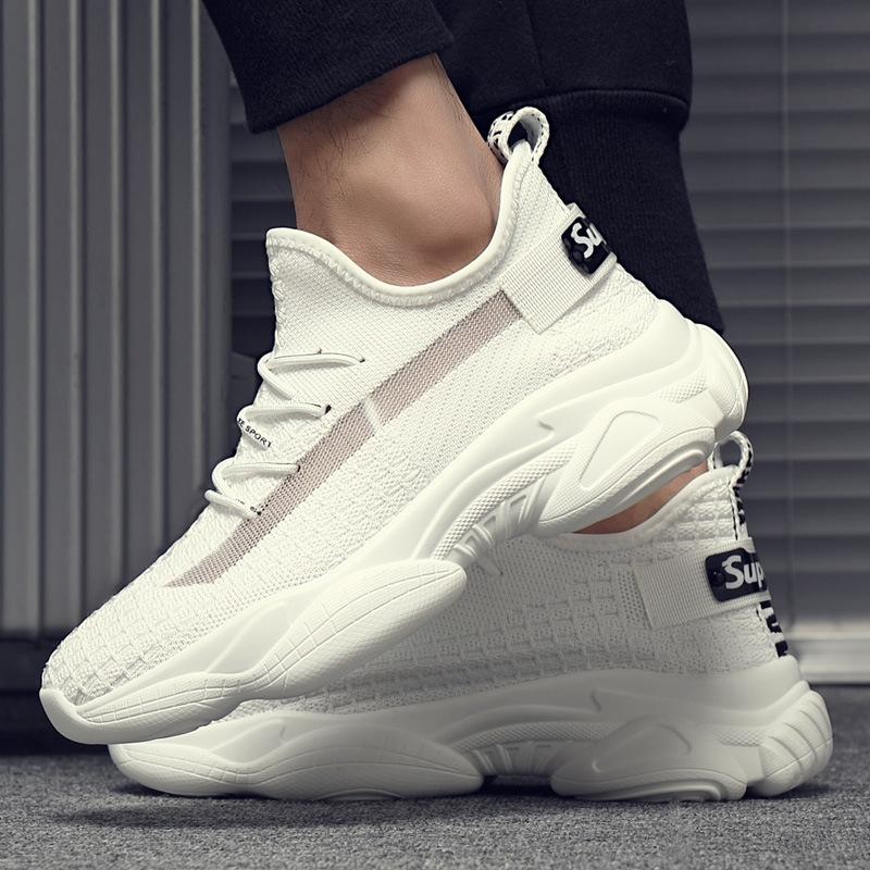 2020夏季新款百搭飞织运动鞋 透气网红椰子小白鞋 韩版潮流休闲运动鞋