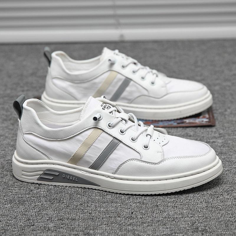 2020夏季新款真皮透气小白鞋 男士休闲板鞋 潮流运动鞋